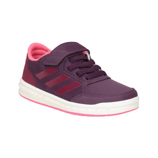 Fioletowe trampki dziecięce adidas, fioletowy, 301-5194 - 13