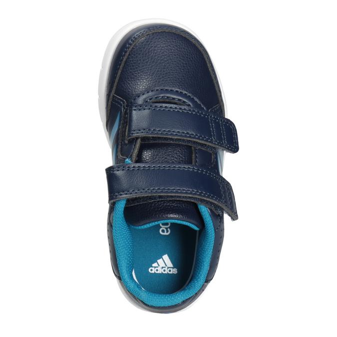 Trampki dziecięce na rzepy adidas, niebieski, 101-9161 - 15