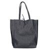 Skórzana torba damska wstylu shopper bata, niebieski, 964-9122 - 26