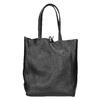 Skórzana torba wstylu shopper bata, czarny, 964-6122 - 16