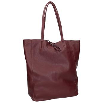 Bordowa skórzana torba typu shopper bata, czerwony, 964-5522 - 13