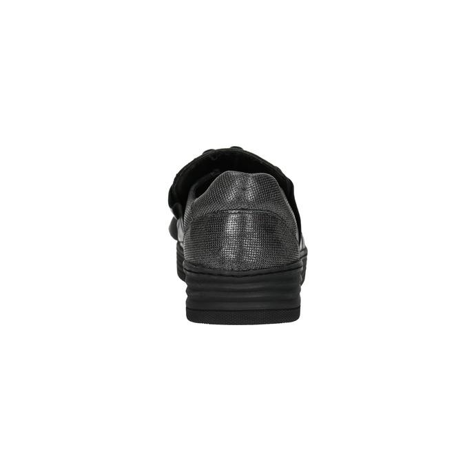 Skórzane slip-on damskie bata, czarny, 516-6614 - 17