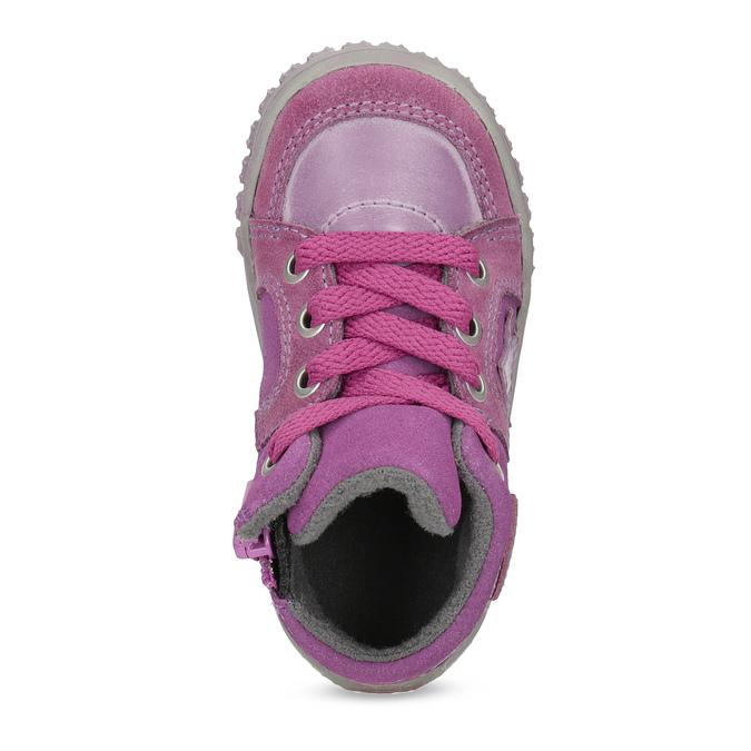 Skórzane trampki dziewczęce bubblegummer, różowy, 123-5601 - 17