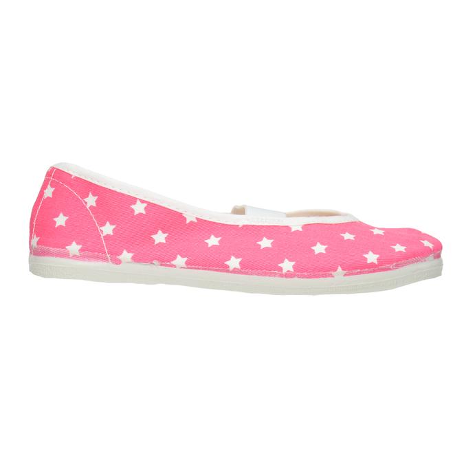 Dziecięce balerinki w gwiazdki bata, różowy, 379-5217 - 26