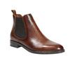 Skórzane buty damskie typu chelsea bata, brązowy, 594-4635 - 13