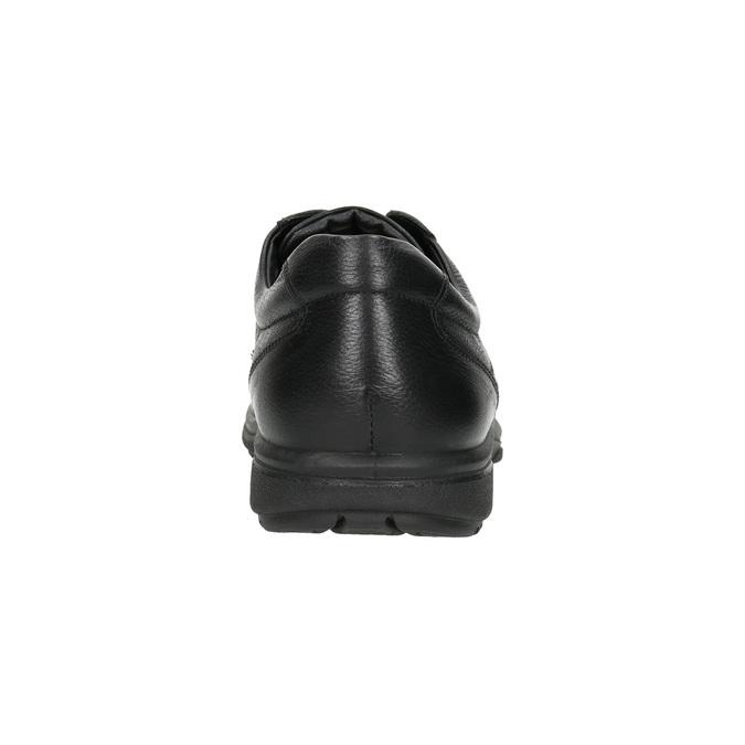 Nieformalne skórzane półbuty comfit, czarny, 824-6912 - 17