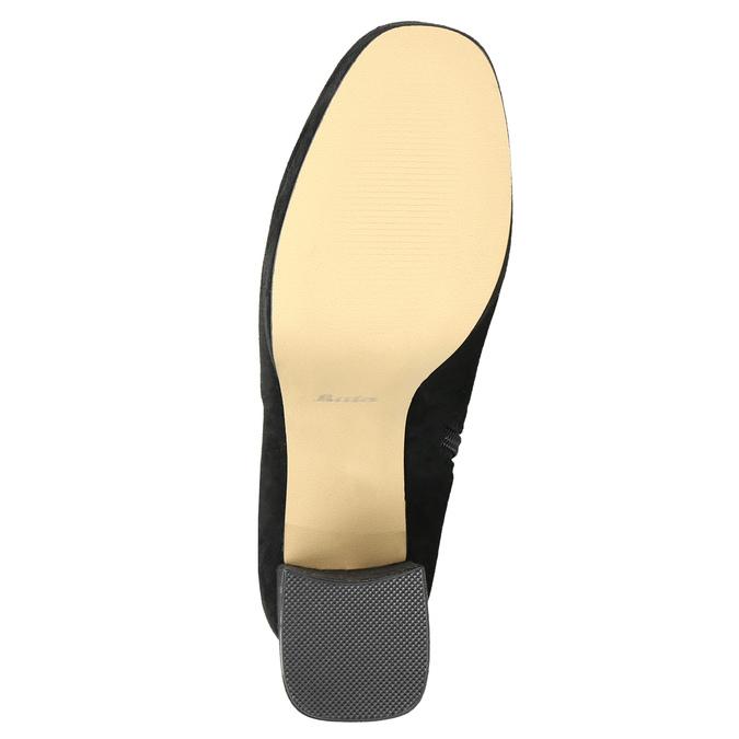 Czarne kozaki damskie za kolana bata, czarny, 799-6663 - 19