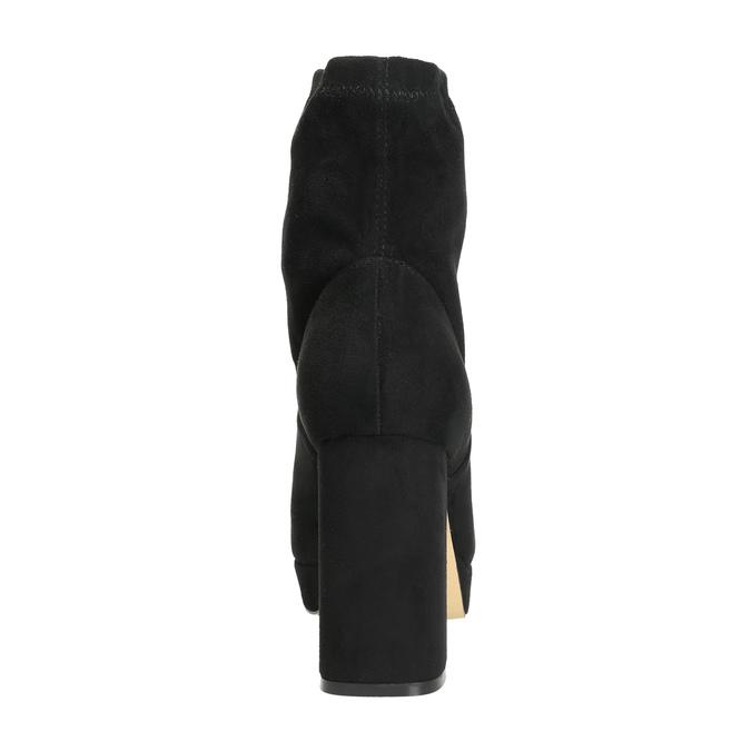 Kozaki damskie na rozszerzanym słupku bata, czarny, 799-6664 - 17