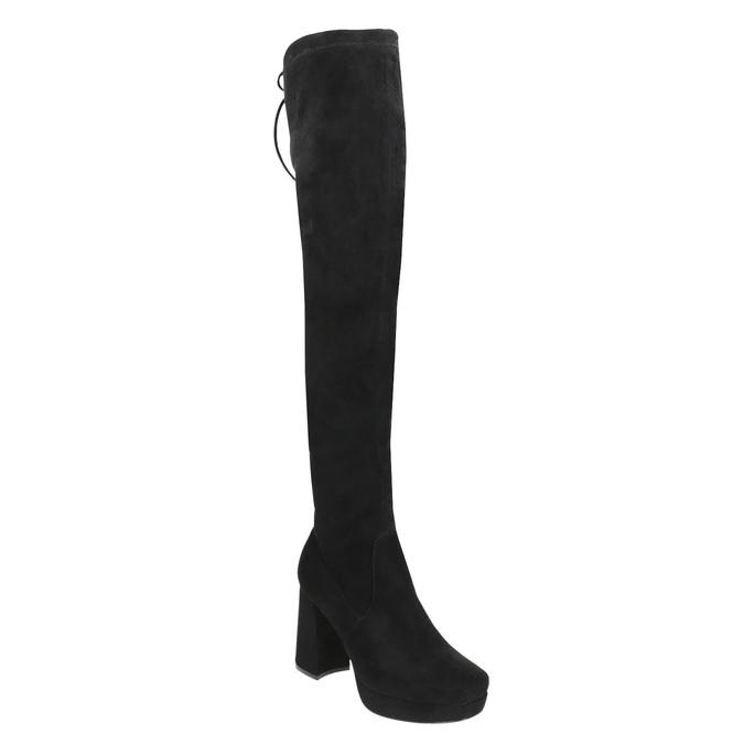 Czarne kozaki damskie za kolana bata, czarny, 799-6663 - 13