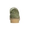 Skórzane trampki damskie wkolorze khaki bata, zielony, 523-7604 - 17