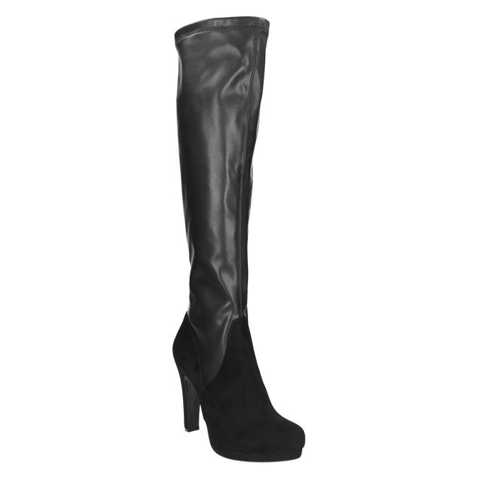 Czarne kozaki damskie bata, czarny, 791-6614 - 13