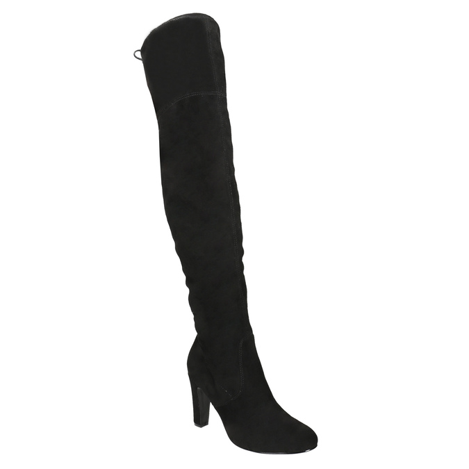 Kozaki za kolana, na obcasach insolia, czarny, 799-6618 - 13