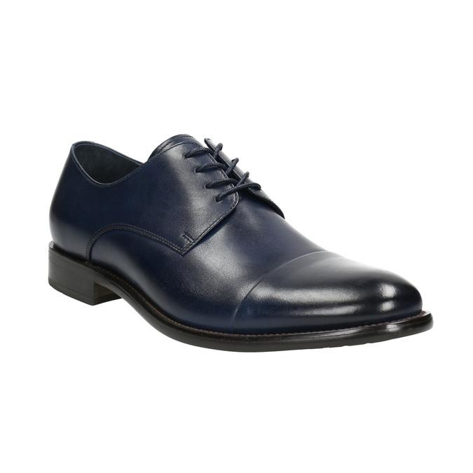 Skórzane półbuty męskie typu angielki bata, niebieski, 826-9682 - 13