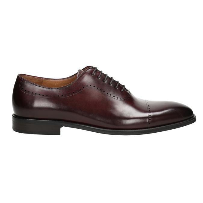 Skórzane półbuty męskie typu oksfordy bata, czerwony, 826-5683 - 15