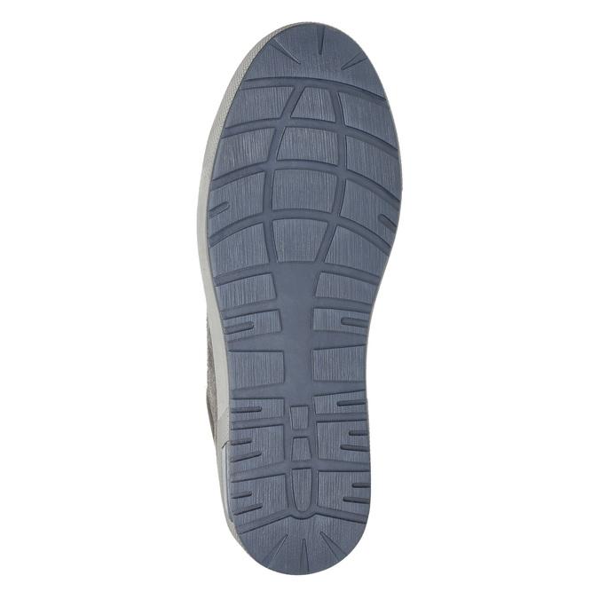 Trampki męskie za kostkę bata, szary, 846-2651 - 19