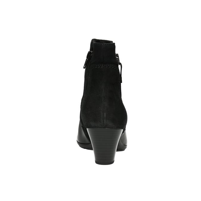 Skórzane botki gabor, czarny, 716-6028 - 17