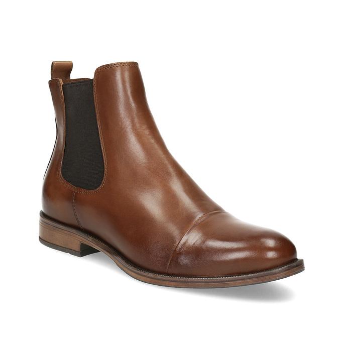 Brązowe skórzane obuwie damskie typu chelsea bata, brązowy, 594-4636 - 13