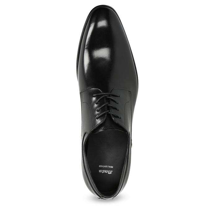 Skórzane półbuty męskie typu angielki bata, czarny, 824-6233 - 17