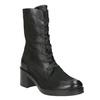 Czarne skórzane kozaki bata, czarny, 696-6646 - 13
