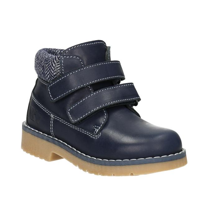 Skórzane botki dziecięce weinbrenner-junior, niebieski, 216-9200 - 13