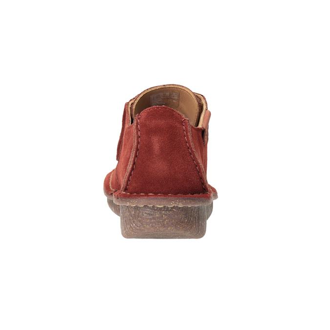 Nieformalne półbuty damskie clarks, czerwony, 623-5033 - 16