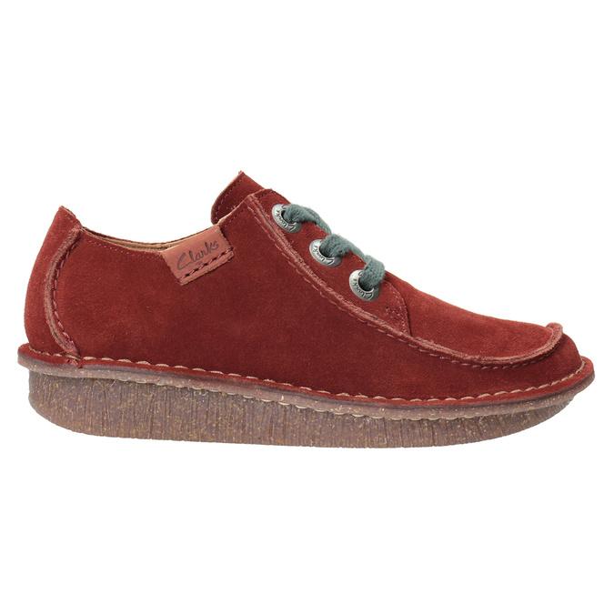 Nieformalne półbuty damskie clarks, czerwony, 623-5033 - 26