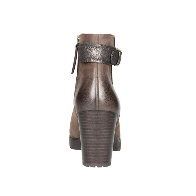Botki damskie zklamrami bata, brązowy, 796-4644 - 17