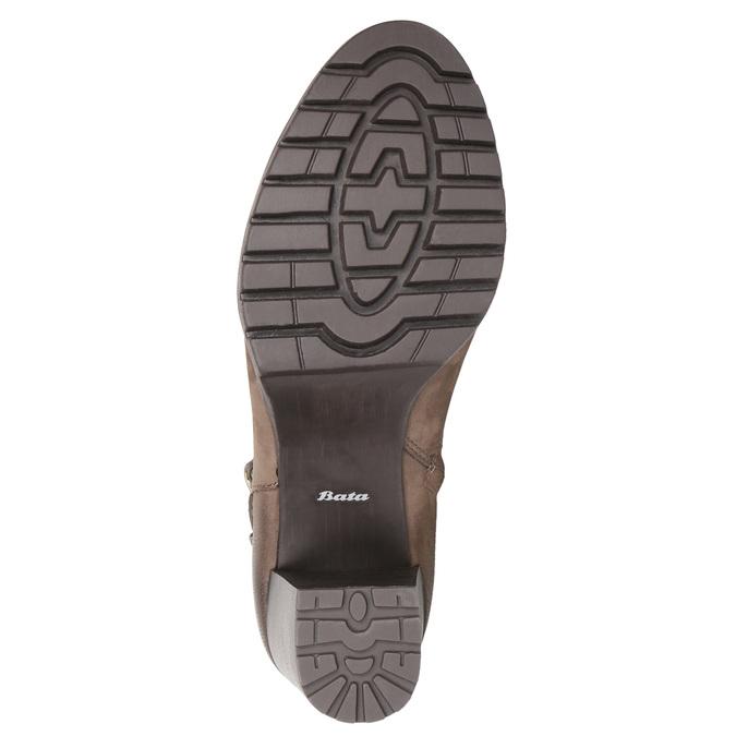 Botki damskie zklamrami bata, brązowy, 796-4644 - 26