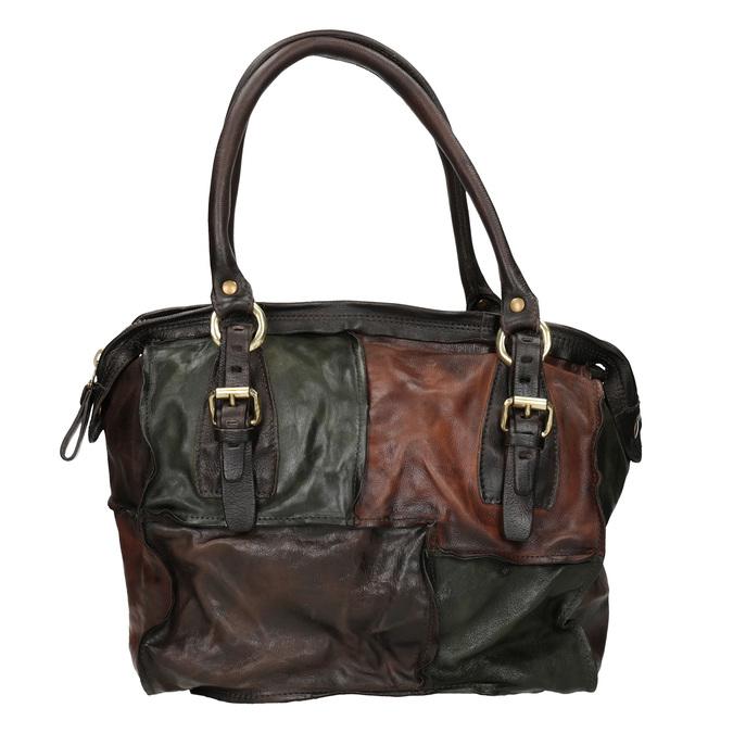Skórzana torba patchworkowa a-s-98, multi color, 966-0062 - 26