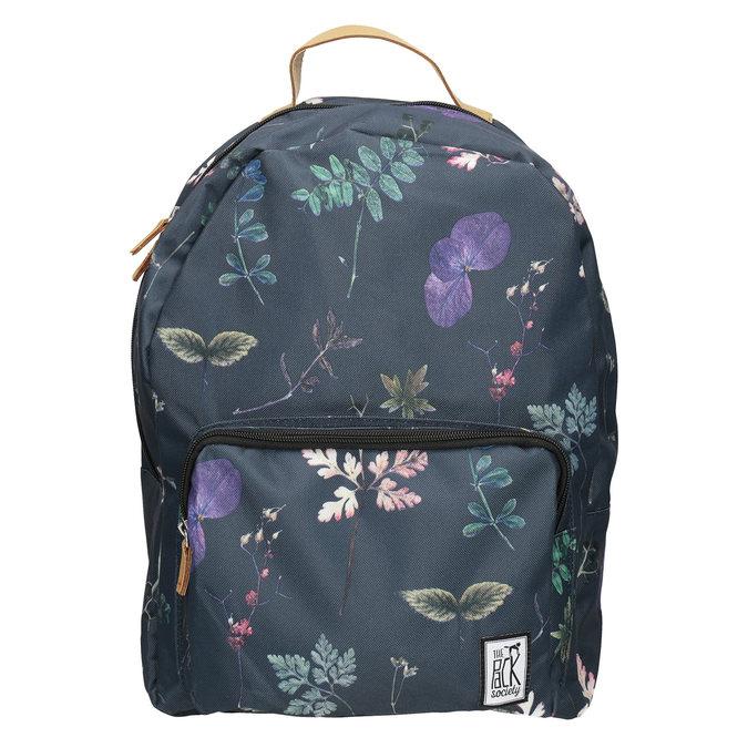 Niebieski plecak znadrukiem, niebieski, 969-9085 - 26