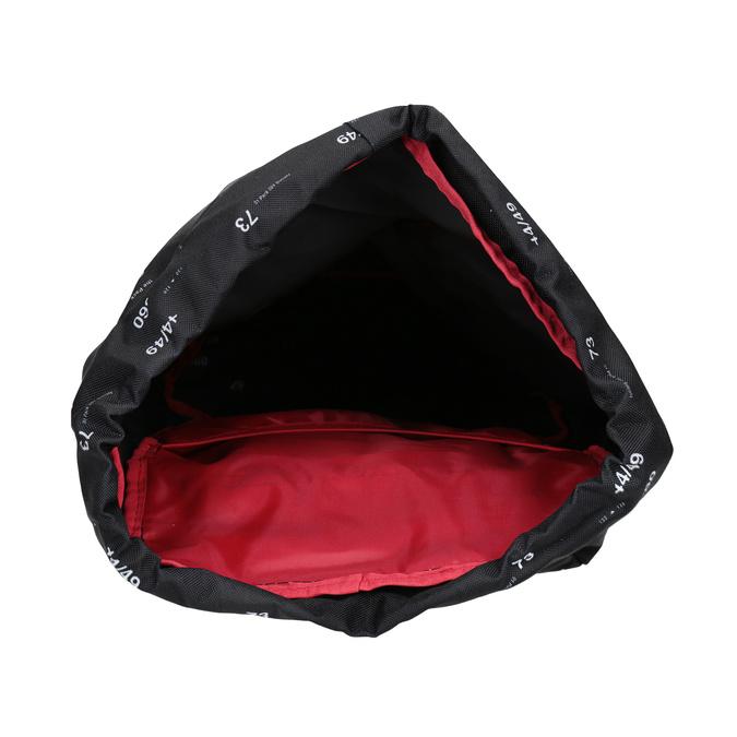 Plecak znadrukiem i wzorzystą wstawką, czarny, 969-6076 - 15