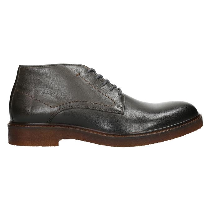 Skórzane obuwie typu chukka bata, szary, 826-3919 - 26