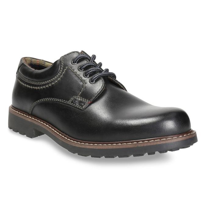 Skórzane półbuty męskie bata, czarny, 826-6619 - 13