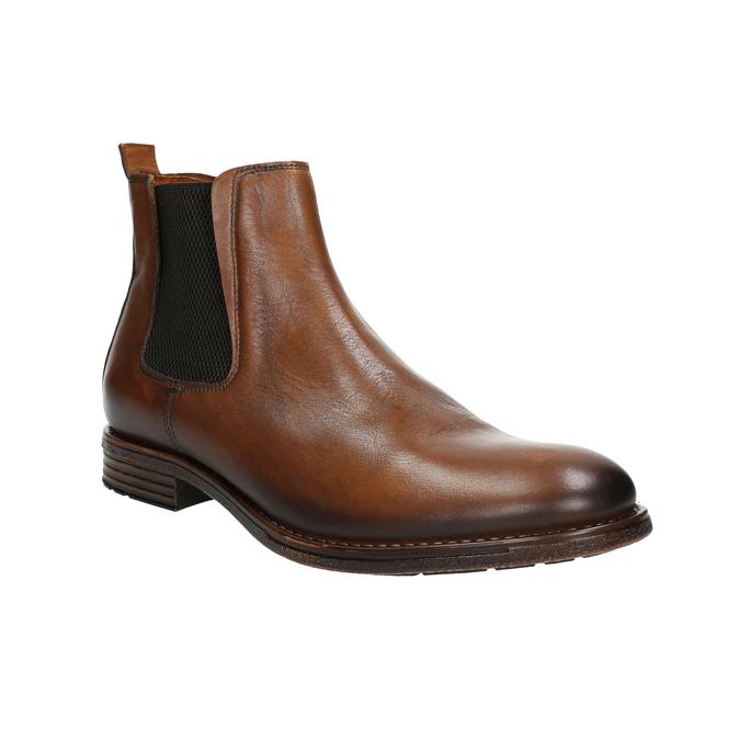 Brązowe skórzane obuwie typu chelsea bata, brązowy, 896-3673 - 13