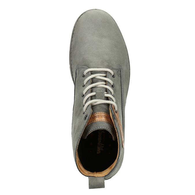 Skórzane buty męskie za kostkę weinbrenner, szary, 846-2656 - 15
