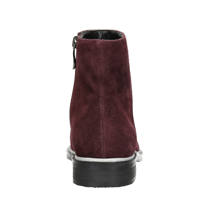 Zamszowe botki bata, czerwony, 593-5603 - 17