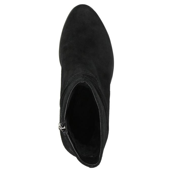 Skórzane botki bata, czarny, 693-6602 - 26