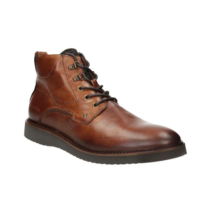 Buty ze skóry za kostkę bata, brązowy, 896-3675 - 13
