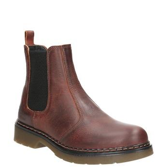 Skórzane obuwie damskie typu chelsea bata, brązowy, 596-3680 - 13