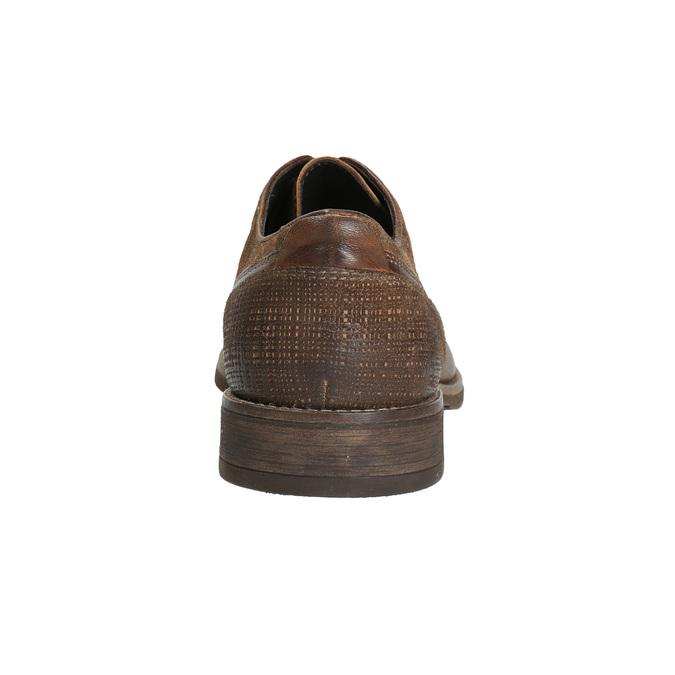 Skórzane półbuty męskie zprzeszyciami bata, brązowy, 826-4610 - 17