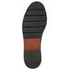 Bordowe botki typu chelsea ze skóry bata, czerwony, 596-5657 - 19