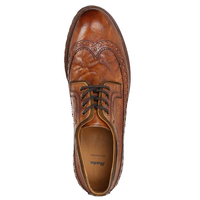 Skórzane półbuty męskie bata, brązowy, 826-3916 - 26