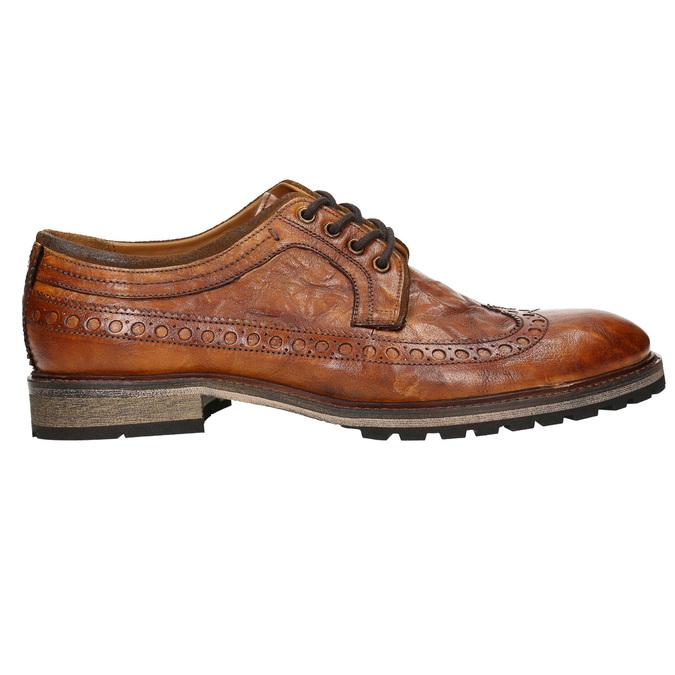 Skórzane półbuty męskie bata, brązowy, 826-3916 - 15