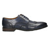 Granatowe skórzane półbuty męskie bata, niebieski, 826-9914 - 15