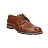 Skórzane półbuty męskie bata, brązowy, 826-3916 - 13