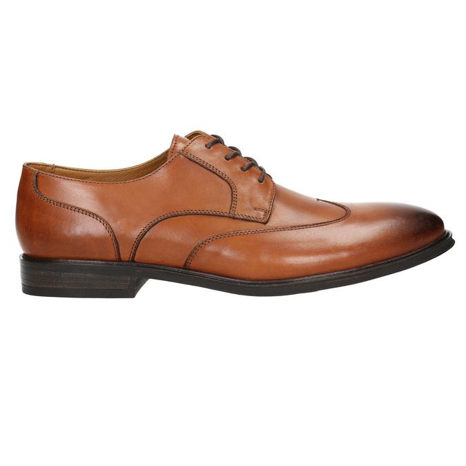 Skórzane półbuty męskie zefektem ombré bata, brązowy, 826-3914 - 15