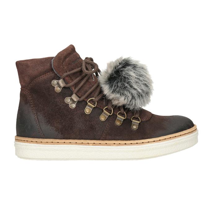 Skórzane obuwie za kostkę weinbrenner, brązowy, 596-4674 - 26