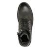 Skórzane obuwie za kostkę bata, szary, 896-2663 - 26