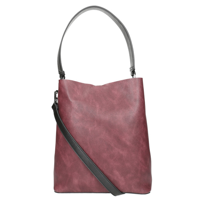 Dwukolorowa torba damska bata, czarny, 961-6173 - 26