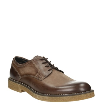 Brązowe półbuty ze skóry bata, brązowy, 826-4620 - 13